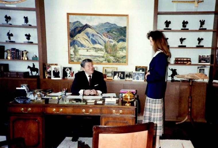 Photo courtesy Peggy Grande Peggy Grande, a La Cañada Flintridge resident, has written a book about the time she spent working as Ronald Reagan's assistant immediately following his second term as president.