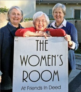 Local residents Monica Hubbard, Jackie Knowles and Aubin Wilson are members of the All Saints Women's Community (the founding group of the Women's Room), which is being honored at the 10th anniversary fundraiser on Wednesday, Feb. 22, at Pasadena's Brookside Golf Club.