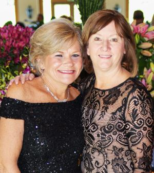 Photo courtesy Elizabeth House Elizabeth House Executive Director Debbie Unruh (left) was among those celebrating Kate Rhymer's contribution to the organization at this year's gala.
