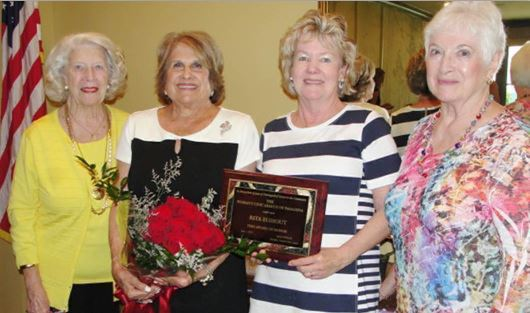 Woman's Civic League Recognition Chairwoman Jane Muller (from left), League Woman of the Year Ways and Means Chairwoman Rita Elshout, League President Lisa Fowler and League First Vice President Sandra McConnell