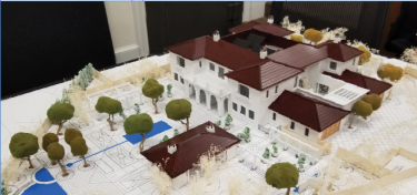 A model shows the layout of a home that was proposed at 1285 Oak Grove Ave. Planning Commissioners were quick to reject the home in large part because of its scale compared with the rest of the neighborhood.