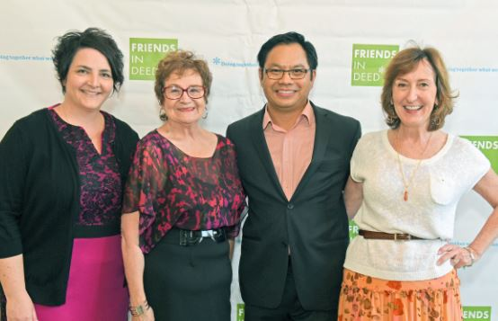 OUTLOOK file photo Stacy Santeramo, Dr. Donna Byrns, Richard Cheung and Kathy Simpson were among those who enjoyed a previous Jazz on the Green concert. This year's fundraiser, which benefits Pasadena-based Friends In Deed, will be held on Wednesday, Sept. 27.