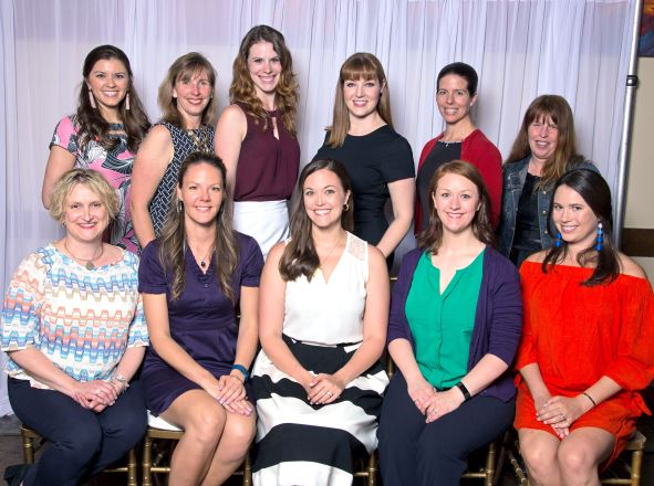 Photo courtesy Nick Boswell The Junior League of Pasadena's new board includes (front row, from left) Dana Jones, Charlotte Miles, Amy Onderdonk, Sara Hatch and Catie Roheim. Back: Allison Daniels, Kerry Slater, Katy Allamong, Emily Loiacano, Katrina Onderdonk and Kathryn Enright.