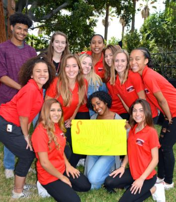 A Pasadena High School fan club for Savannah Bradley, named as one of the seven princesses, cheered wildly when her name was called. Viviana Garcia (front row, from left), Makai Ward and Jordan Beach. Middle: Aylah Robinson, Garyn Anderton, Mackenzie Vicek, Kate Iko, Gray Harman and Kai-lynn Wright. Back: Asher Smith, Sophie Lyndsay and Nia Cathcart.
