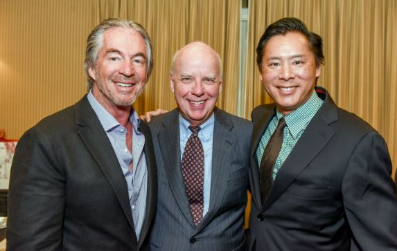 OUTLOOK file photo Gregg Smith, Bill Podley and Brent Chang were among those who attended a prior PFAR Charitable Foundation Wreath Auction. This year's annual fundraiser is being held on Friday evening, Dec. 1, at the Altadena Town & Country Club.
