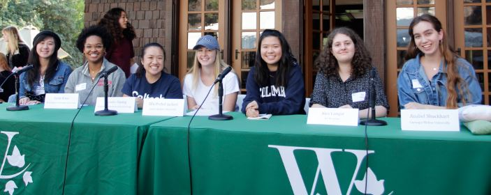 Photo courtesy Westridge School Rebecca Wang, Sarah Binns, Christie Huang, Ella Prebel-Jackert, Vivienne Li, Alexandra Langer and Anabel Shuckhart