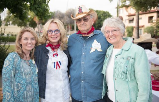 Beth Greco, Jo Westervelt, Steve Novarro and Joyce Racine were among those who attended a previous year's Walter Hoving Home Backyard BBQ fundraiser. This year's event will be Thursday evening, May 24.