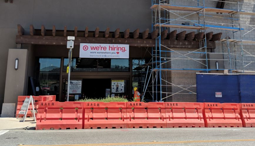Photo by Mirjam Swanson / OUTLOOK Target expects to hire about 100 employees at its new La Cañada Flintridge store, which is expected to open in the fall.