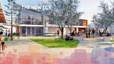 Image courtesy YMCA of the Foothills YMCA of the Foothills' expansion proposal envisions a new central community space that will include an amphitheater, tables, benches, grassy areas and trees. It could be used for children's concerts, performances and other events.