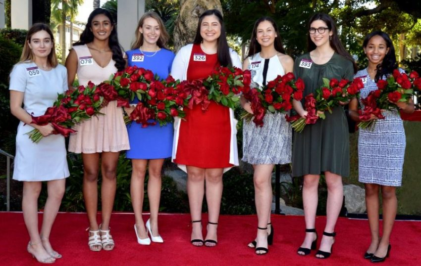 Photo courtesy Pasadena Tournament of Roses Members of the 2019 Tournament of Roses Royal Court include Helen Rossi (Flintridge Prep), Rucha Kadam (La Cañada High School), Lauren Baydaline (Westridge School), Micaela McElrath (Westridge School), Sherry Ma (San Marino High School), Louise Siskel (Sequoyah High School) and Ashley Hackett (John Muir High School).