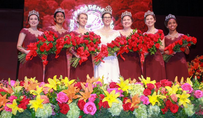 Photo by Staci Moraza / OUTLOOK Members of the 2019 Tournament of Roses Royal Court include Helen Rossi (Flintridge Prep), Rucha Kadam (La Cañada High School), Lauren Baydaline (Westridge School), Louise Siskel (Sequoyah High School), Micaela McElrath (Westridge School), Sherry Ma (San Marino High School) and Ashley Hackett (John Muir High School).