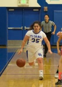 Photo courtesy Eric Danielson Angelina Karapetyan helped the Titans defeat Fillmore, 40-36, last Saturday.