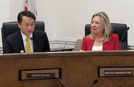 Photo by Zane Hill / OUTLOOK Dr. Steven Huang and Gretchen Shepherd Romey were chosen as San Marino's mayor and vice mayor for 2019.