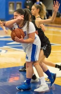 San Marino senior Angelina Karepetyan recorded three steals against the Wildcats and scored five points in the Titans' loss to Temple City.