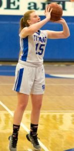 Kylie Bonavich scored 12 points and grabbed 12 rebounds in San Marino's 44-31 victory over Monrovia.