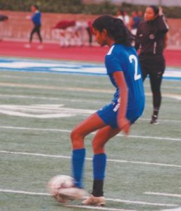 Outlook Photo Puja Balaji has helped the varsity girls' soccer team remain undefeated with an overall record of 8-0-2.