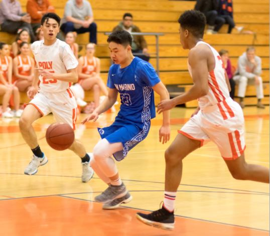 Photo courtesy Eric Danielson Ethan Deng scored a game-high 18 points and led the Titans to a 43-40 victory over Pasadena Poly in a wild card game last week.