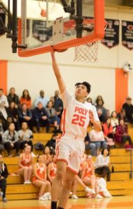 Photo courtesy Eric Danielson Poly fell to San Marino, 43-30, in a CIF-SS Division 4AA wild card contest last week. Senior Nicholas Tu scored five points in his final game as a Panther.