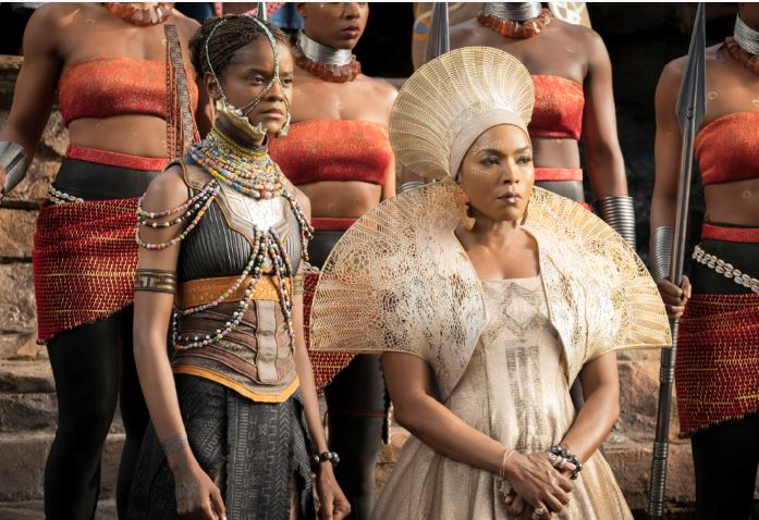 "Photo courtesy Matt Kennedy, Marvel Studios La Cañada Flintridge's Angela Bassett (right) plays Queen Ramonda alongside Letitia Wright in ""Black Panther,"" which has earned more than $1.3 billion worldwide."