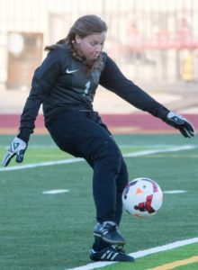 Photo courtesy Eric Danielson Senior goalkeeper Emily Boutin was named the Rio Hondo League's most vaulable defensive player.