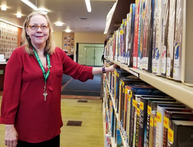 Photo by Zane Hill / OUTLOOK City Librarian Irene McDermott, who has worked at San Marino libraries for 21 years, said the community's generosity is a key factor in Crowell Public Library's exceptional offerings to patrons.