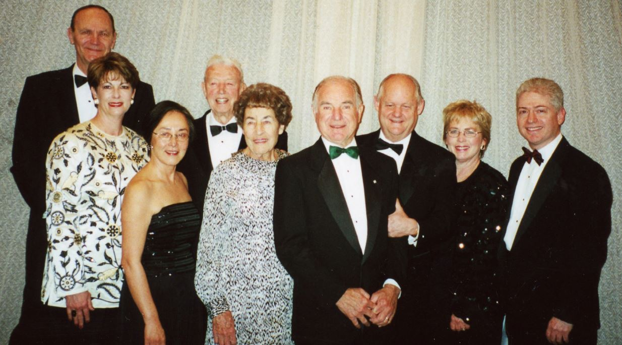 OUTLOOK file photo The stars shined brightly at the 2001 Spring Gala as past Spirit of Outstanding Service Award winners gathered. Pictured (from left) are Neil Brockmeyer (1992 honoree), Barbara Racklin (1995), Carol Liu (2000), Dick and Shirley DeGrey (1997), Jack Samuelson (2001), Charles Broberg (1993) and wife Jeanne, and Gene Stein (1996).