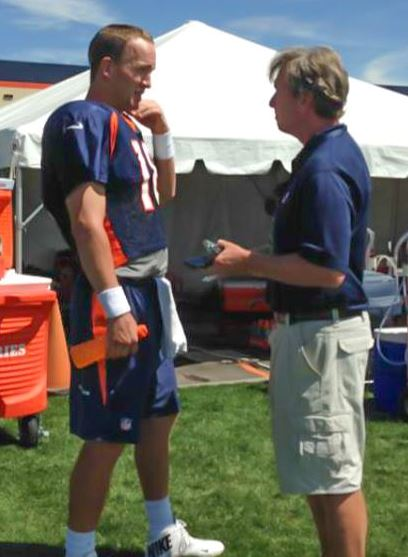 Sam Farmer and Peyton Manning