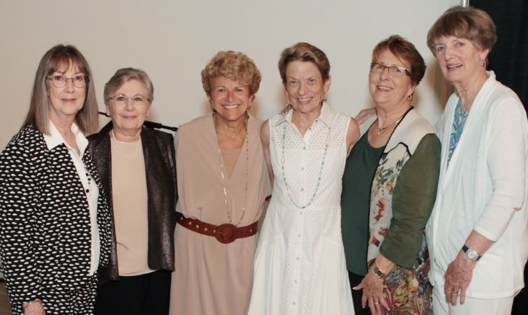 Executive Director Sue Mossman, Mic Hansen, Judy Gain, Lauren Frankel, Katie Harp McLane and Claire Bogaard