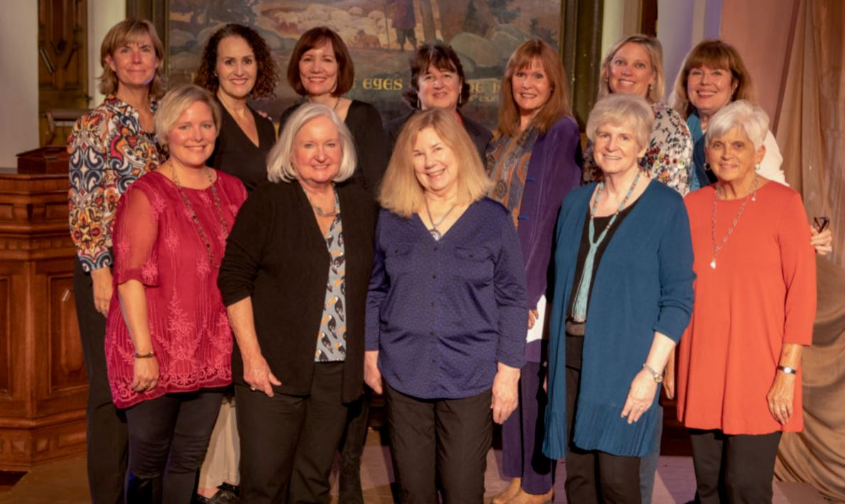 Members of the Pasadena Literary Alliance's Open Book Series committee include Julie Daniels (front row, from left), Teresa Payton, Liz White, Shelley Thompson and Carmie Rodriguez. Back: Katie Poole, Kathleen Waller, Peggy Gregerson, Jennifer Bigelow, Sarah Hunter, Emily Vitan and Georgia Jeffries.