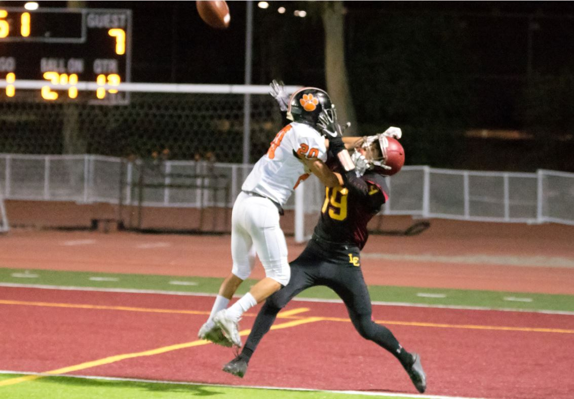 LC junior wide receiver Justin Zoltzman caught a touchdown and helped the Spartans score 14 unanswered points to defeat Hacienda Heights Wilson, 17-14, last Thursday.
