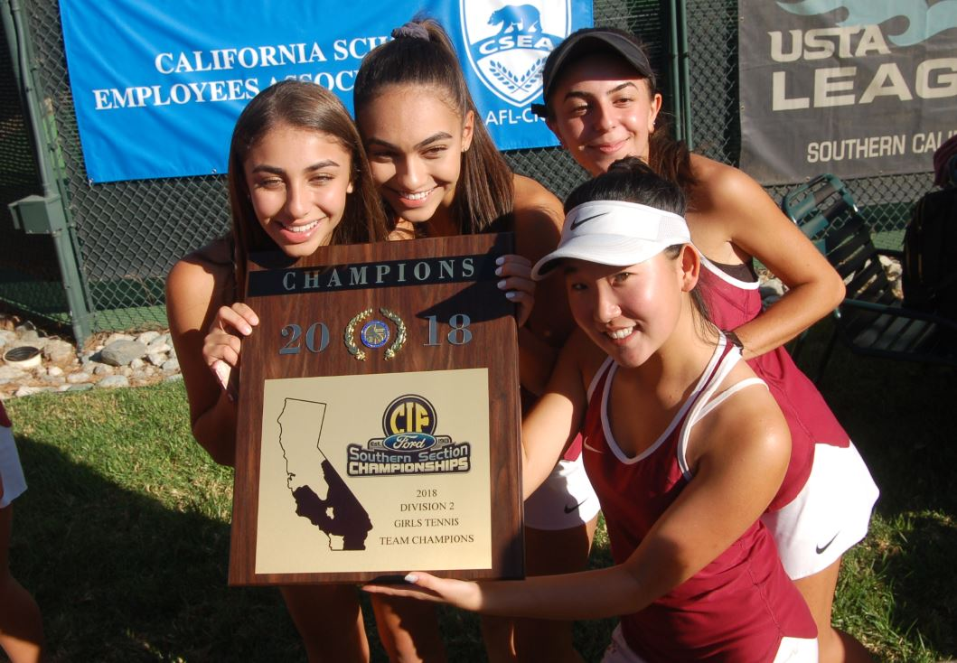 Sophia and Roxanna Razavi, Annabelle Kevakian and Natalie Son will be returning this season after helping the Spartans win the CIF-SS Division 2 title last year.