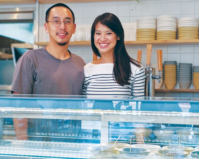Chris Yang and Maggie Ho, who both graduated from San Marino High School in 2008, recently opened their dream Chinese fusion restaurant, Yang's Kitchen, in Alhambra. The menu results from their years of training and travel throughout the world of cuisine.